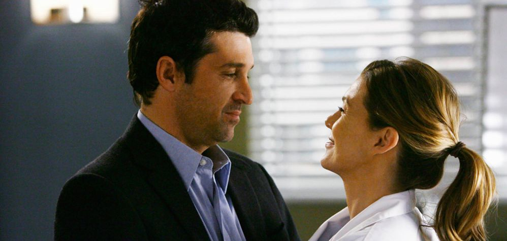 TV couples Meredith and Derek Grey's Anatomy