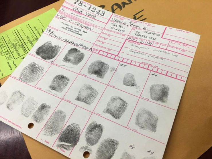 bob crane fingerprints