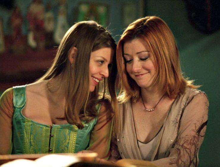 TV couples Willow and Tara