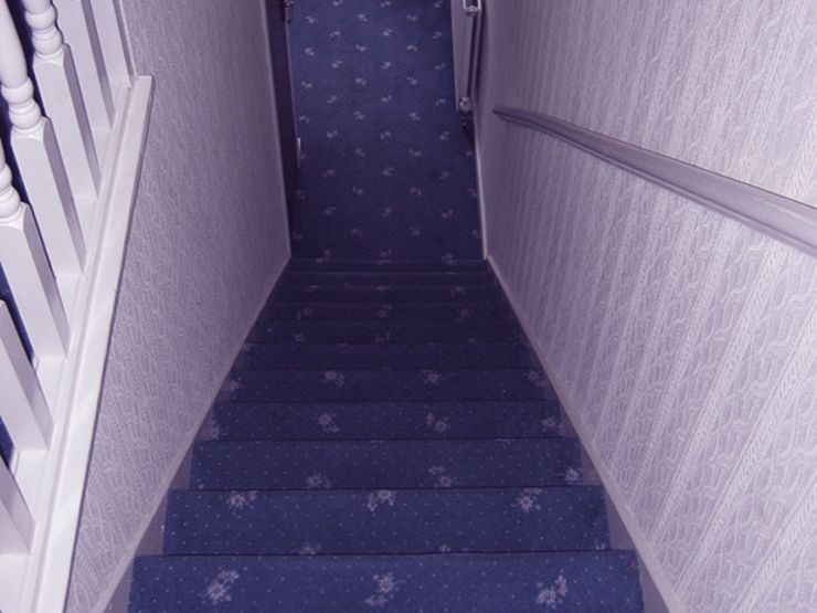 horror shorts stairs