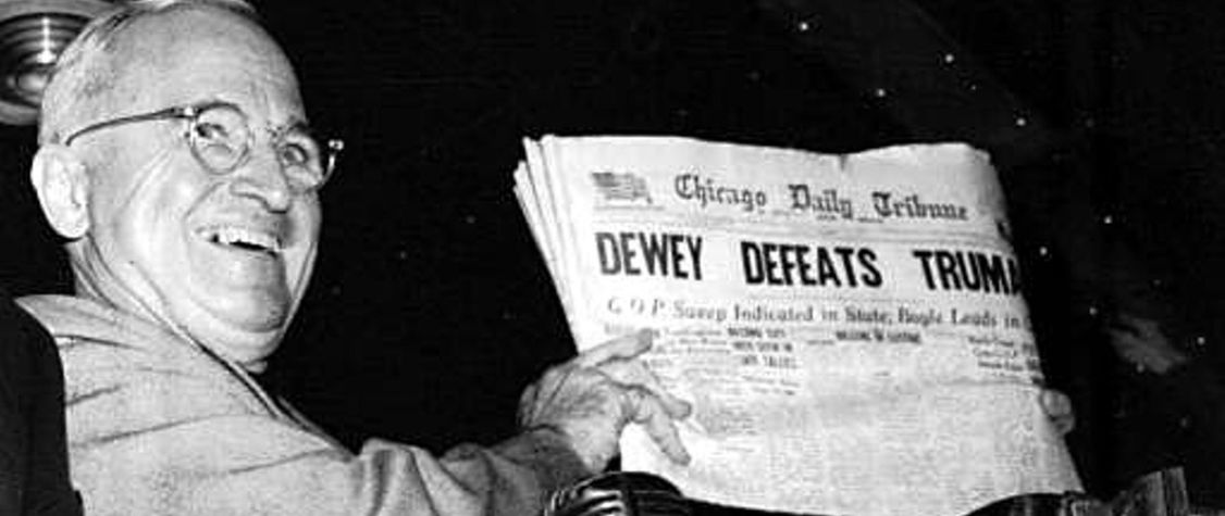 "On This Day: Infamous<em> ""</em>Dewey Defeats Truman"" Newspaper Hits Newsstands"