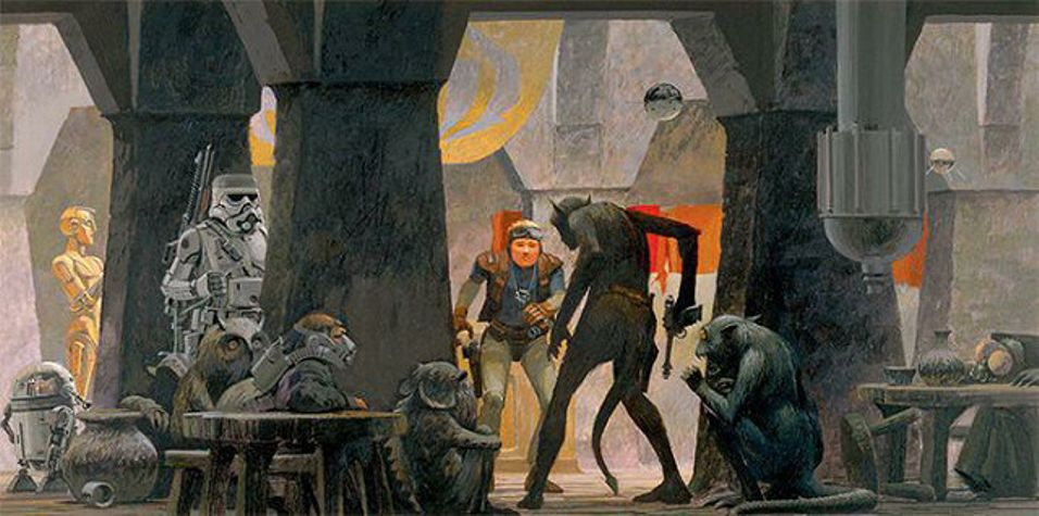Ralph McQuarrie Star Wars Mos Eisley