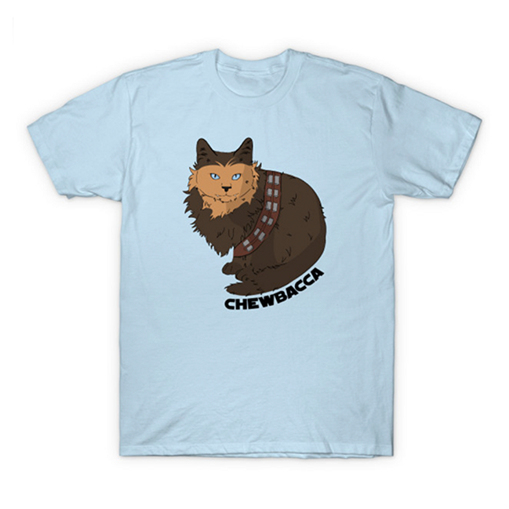 cat shirts for geeks Chewbacca