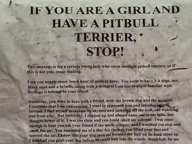 Pitbull terrier letter