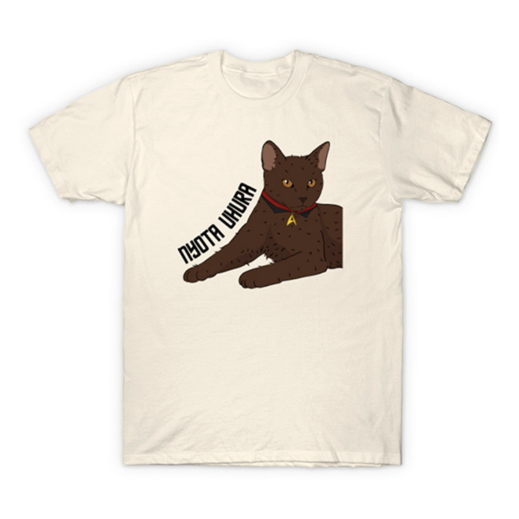 cat shirts for geeks Nyota Uhura