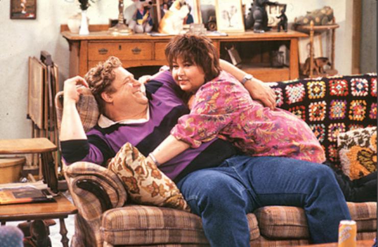 TV couples Roseanne and Dan