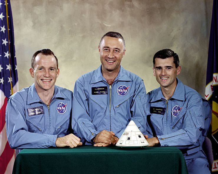 Apollo 1 disaster Moonshot crew portrait