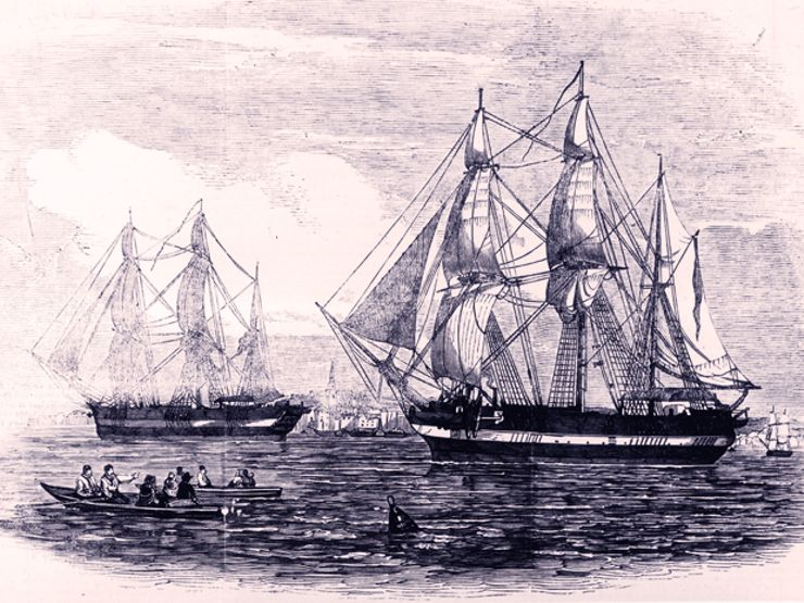 FranklinExpedition_IllustratedLondonNews_ships