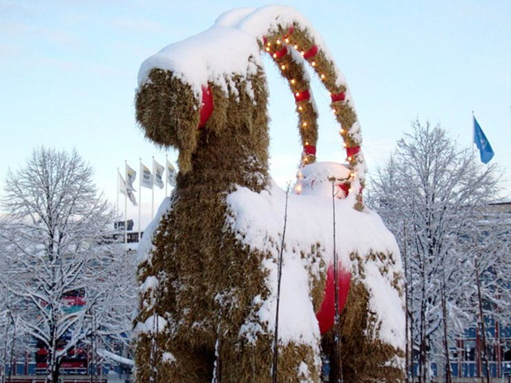 The Gävle goat. Photo: Wikimedia Commons