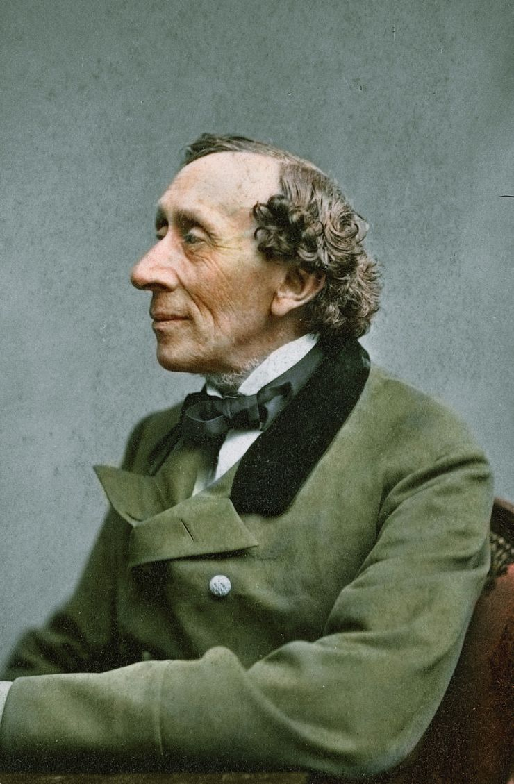 hans christian andersen colorized