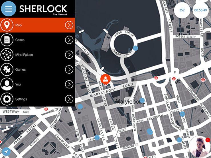 sherlock the network game screen