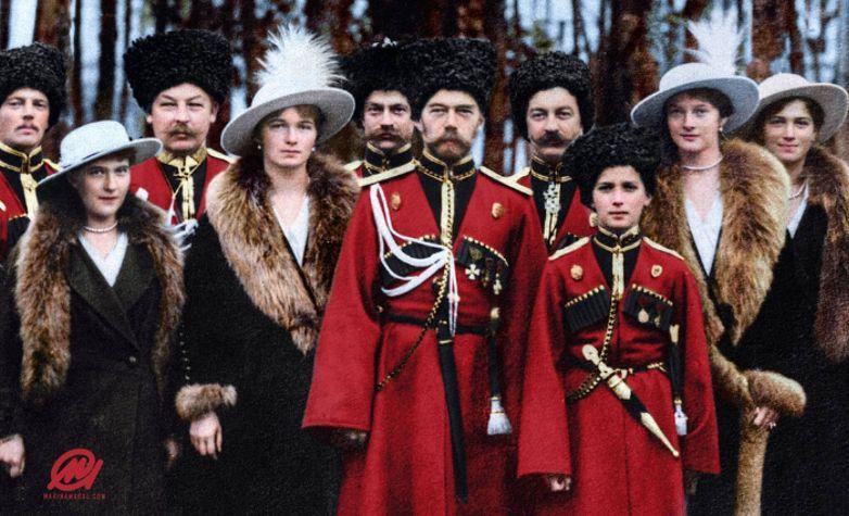 romanov family colorized