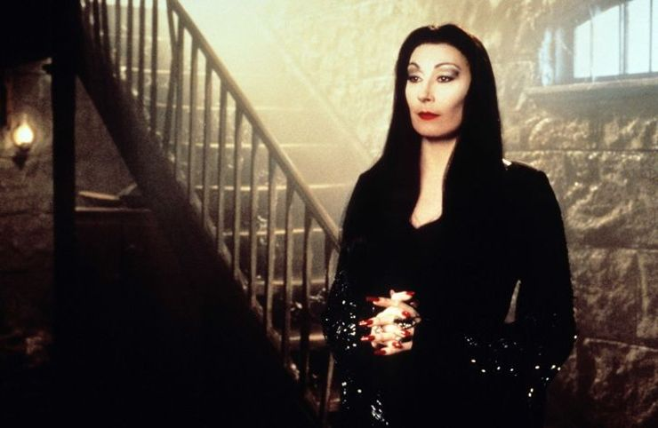 badass female characters Morticia Addams