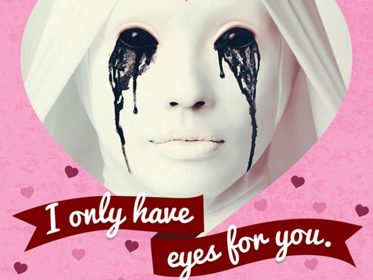 Declare The Disturbing Depths Of Your Love With These Scary Valentineu0027s Day  Cards.