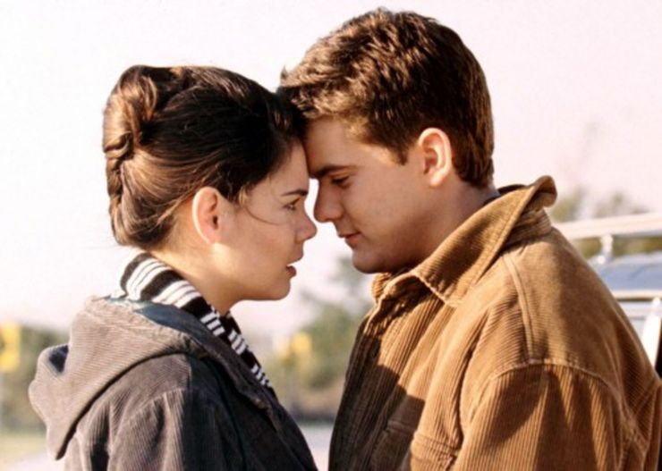TV couples Pacey and Joey Dawson's Creek