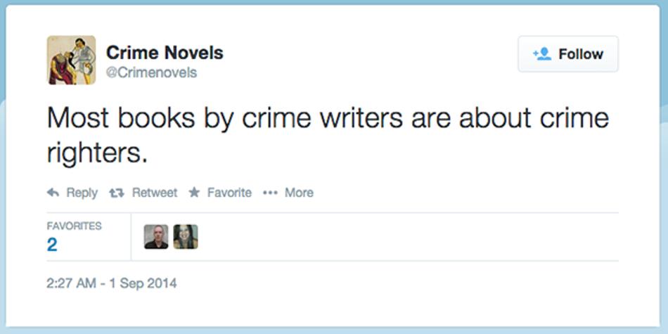 crime novels twitter