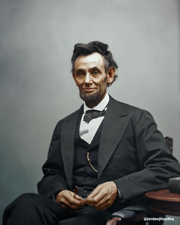 abraham lincoln colorized photo