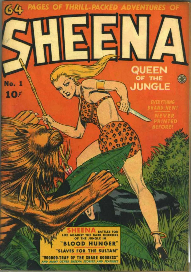 female superheroes sheena queen of the jungle