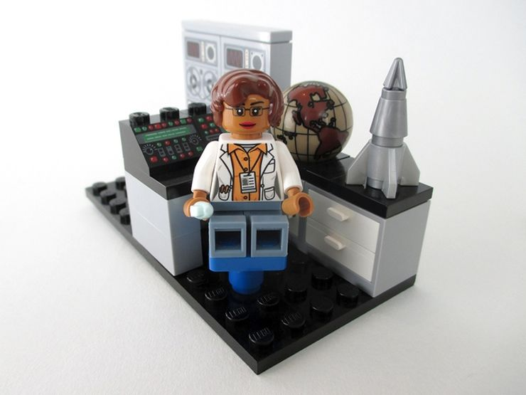 women of nasa lego katherine johnson minifig