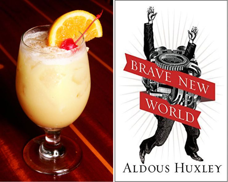 Literary Inspired Cocktails Brave New World