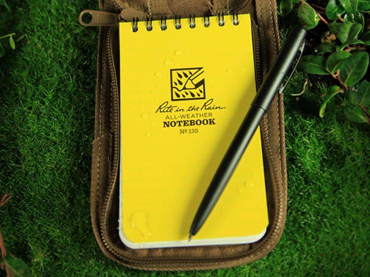 gift guide: rite in the rain notebook