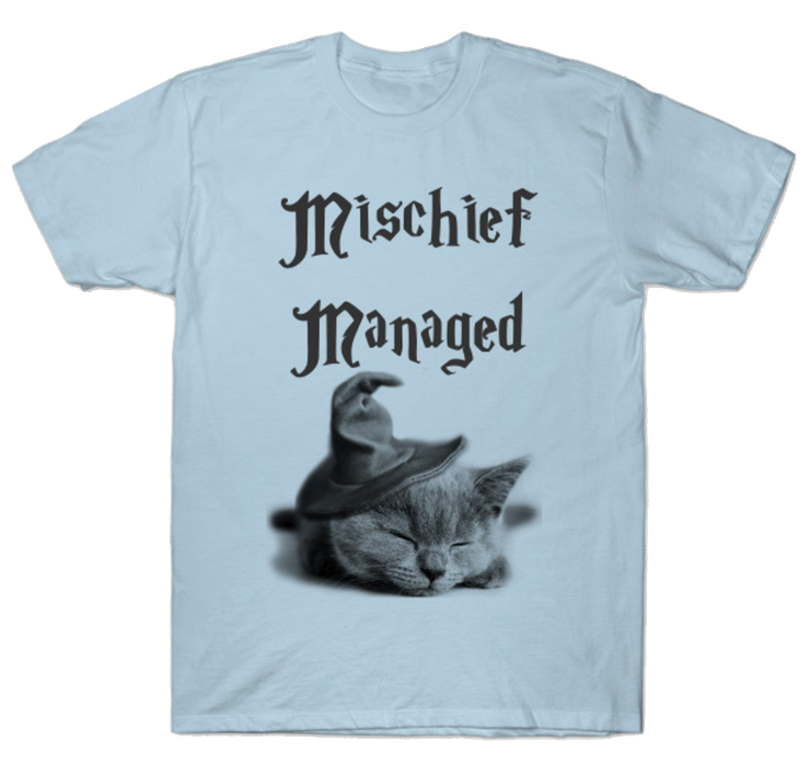 cat shirts for geeks mischief managed Harry Potter