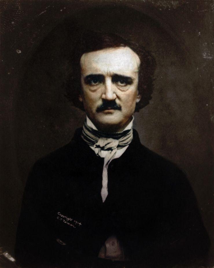 Edgar Allen Poe colorized