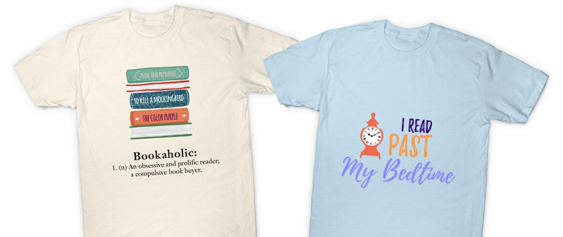 Show Off Your Love of Books With These T-Shirts and More