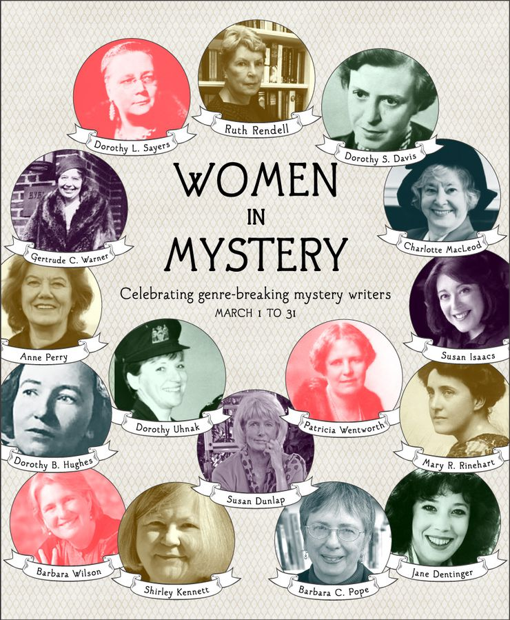Women in Mystery: Women's History Month Infographic
