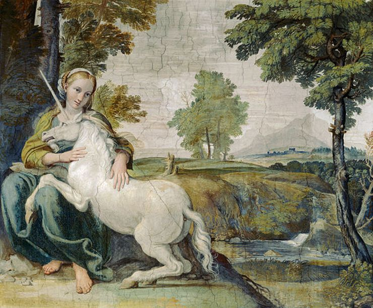 mythological creatures explanations pal farnese lady with a unicorn
