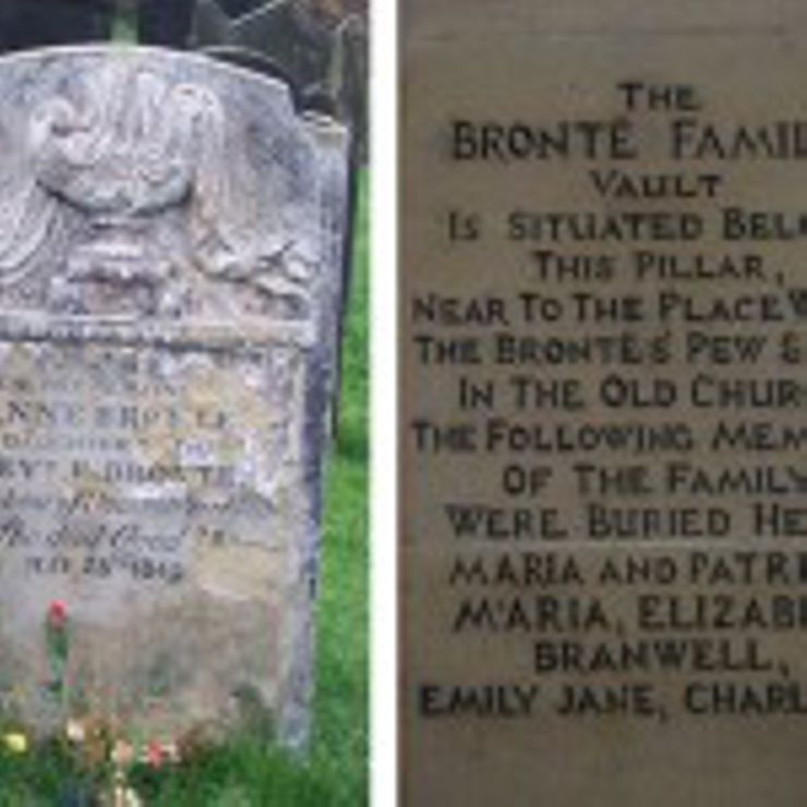 Both Emily and Charlotte Brontë are buried in the family plot in Haworth Chapel, in Yorkshire, England. Their younger sister Anne is buried in St. Mary's Churchyard in Scarborough, England. She had traveled there in hopes that the sea air would improve her tuberculosis, but sadly died before she could return home.