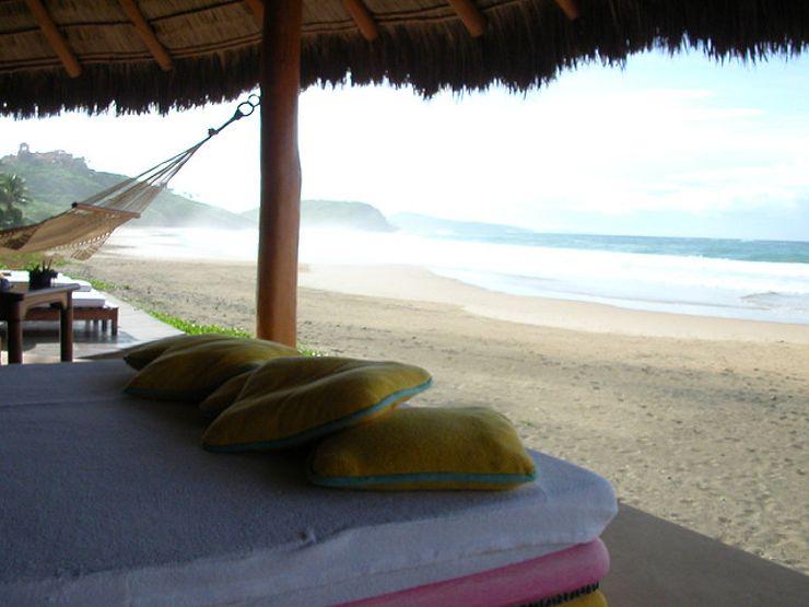 romantic beach getaways Las Alamandas Mexico