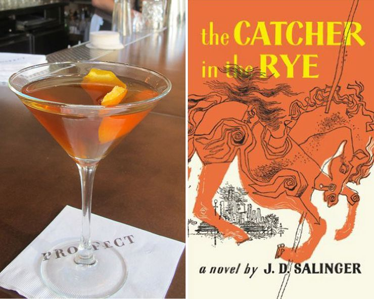 Literary Inspired Cocktails Catcher in the Rye