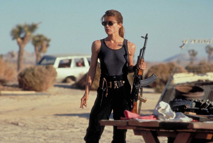 badass female characters Sarah Connor Terminator 2: Judgment Day