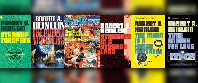 6 classic robert heinlein books