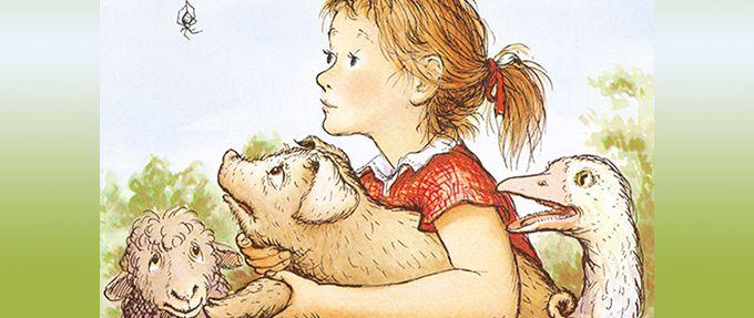 Charlotte's web, a classic children's book by E.B. White