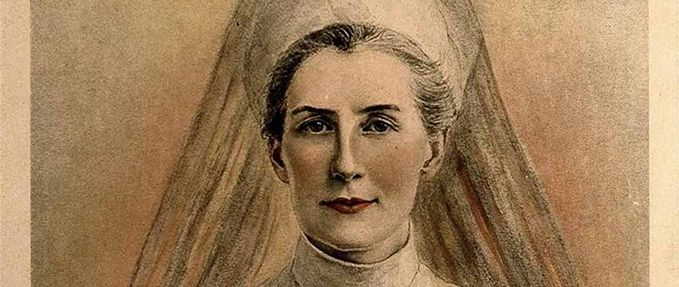 Drawing of Edith Cavell