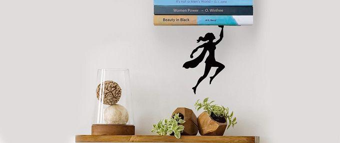 gifts for book nerds - superwoman shelf