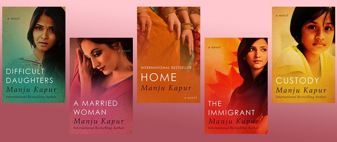manju kapur books: difficult daughters, home, the immigrant, etc.