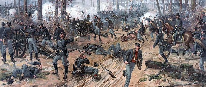 civil war soldiers glowing