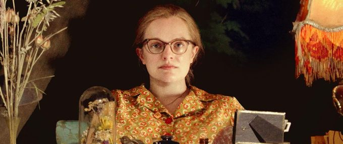 elisabeth moss as shirley jackson in shirley, a movie about the famous writer