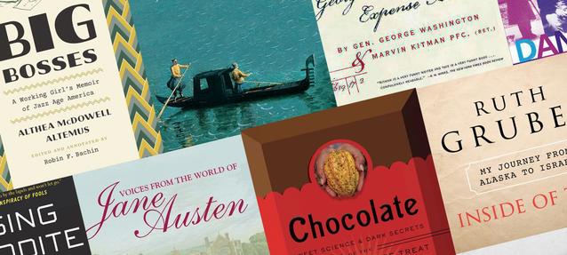 collage of book covers, escapist nonfiction