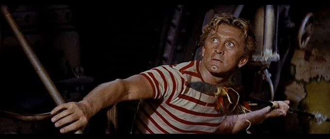 kirk douglas in 20000 leagues under the sea, a family movie on disney plus