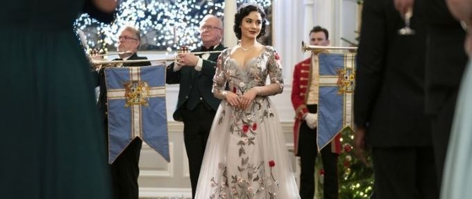 vanessa hudgens in a coronation gown