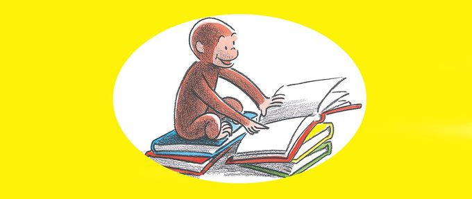 curious george reading books