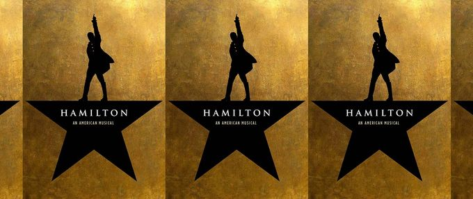 the playbill for hamilton, a musical based on a book