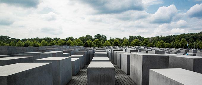 The Jewish memorial in Berlin, Germany
