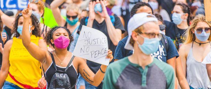 blacklivesmatter demonstration in cincinnati 2020