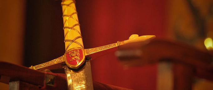 history of weapons, image of a sword hilt