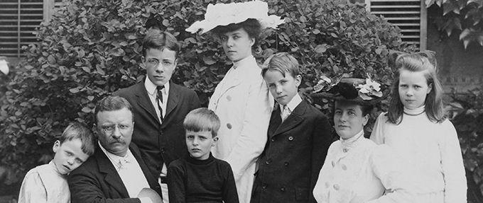 teddy roosevelt first kids